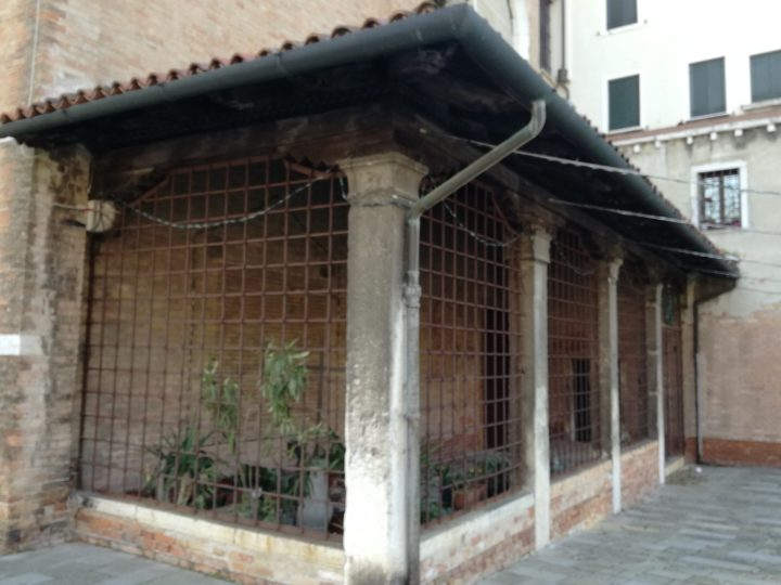 the old surviving portico of San Nicolò dei Mendicoli church