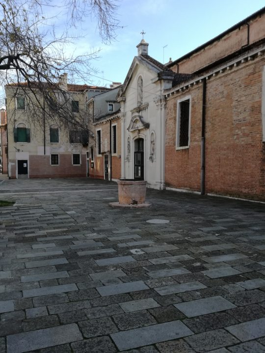 Church of San Nicolò dei Mendicoli in Venice, facade overlooking small 'campo'