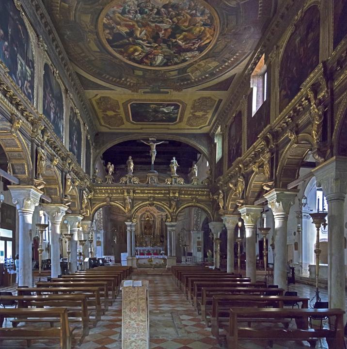l'intérieur de l'église de San Nicolò dei Mendicoli (Saint Nicolas des Mendiants), Venise
