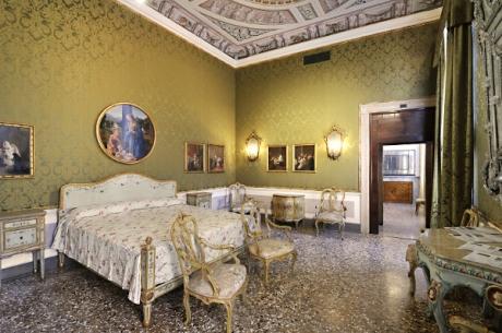Camera da letto in palazzo Querini Stampalia a Venezia