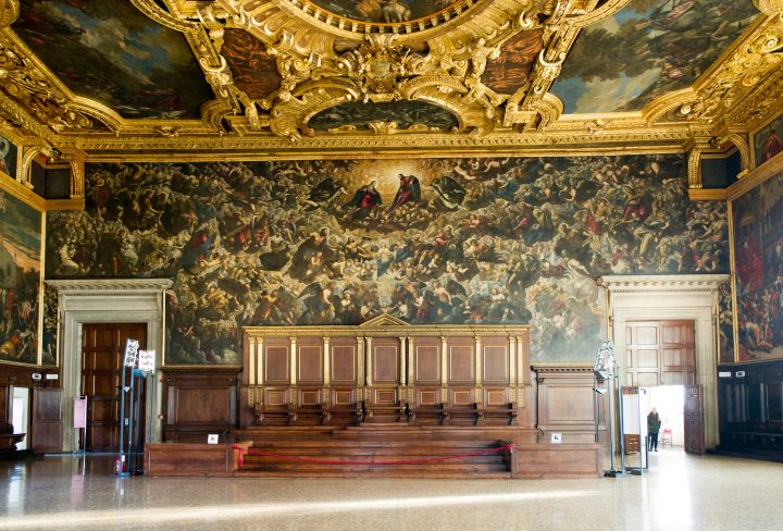 Paradise, by Jacopo Tintoretto, Domenico and workshop, on the Tribune wall in the Great Council room of the Doge's Palace