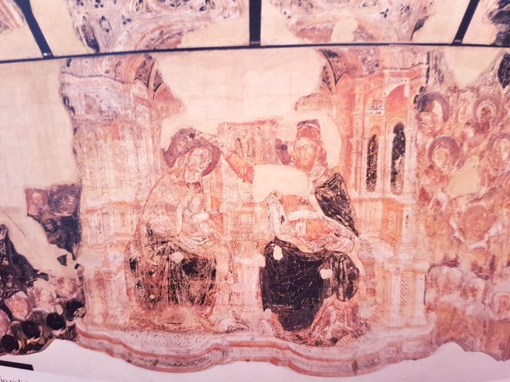 Guariento D'Arpo, Coronation of Virgin Mary in Heaven, ca.1365; originally on the wall of the tribune in the Great Council, today in the Sala dell'Armamento