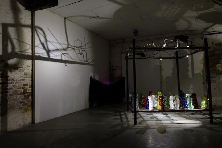 """Lorenzo Passi, veduta dell'installazione """"I built a canopy for dreams"""", 2017"""