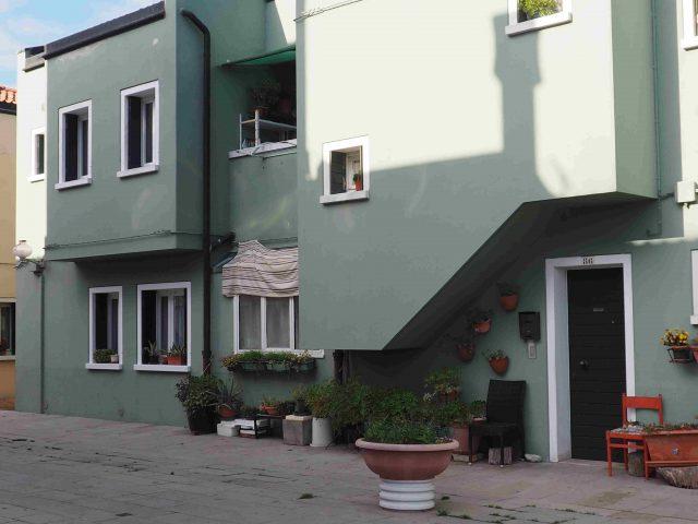 'Calle' nell'edilizia residenziale popolare all'isola di Mazzorbo