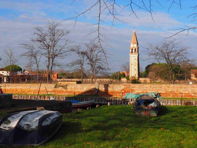 Campanile di San Michele e cinta muraria all'isola di Mazzorbo