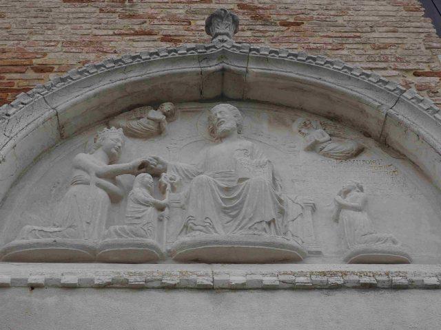 Lunetta con le nozze mistiche di Santa Caterina di Mazzorbo