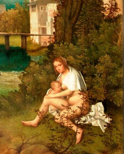 Dettaglio da Giorgione, Tempesta, Venezia, Gallerie dell'Accademia
