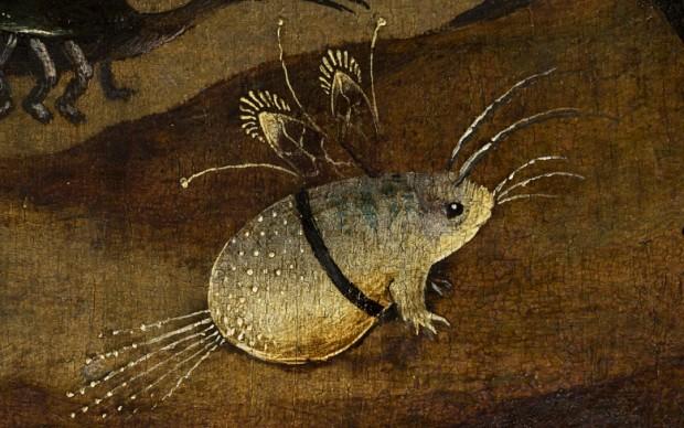 Dettaglio da Hieronymus Bosch, Trittico degli Eremiti,Venezia, Gallerie dell'Accademia