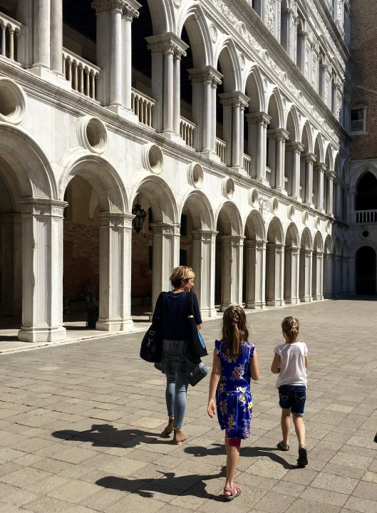the amazing courtyard of the Doge's palace