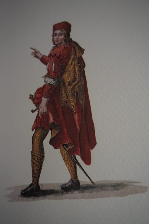 """Un """"Compagno della Calza"""", Museo Correr Cod. Gradenigo-Dolfin, Fonte: Lionello Venturi"""