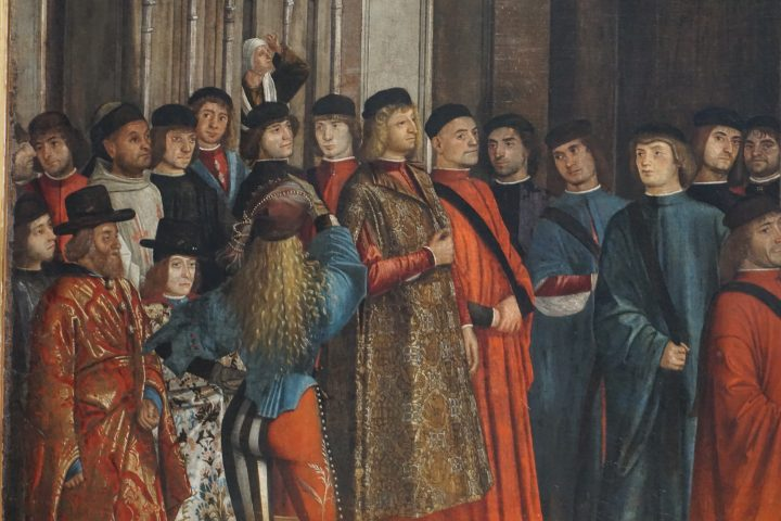 Vittore Carapccio, Miracle of the Cross at Rialto, detail, Accademia Galleries, Venice