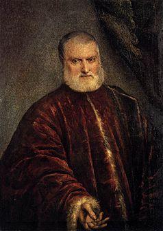 J. Tintoretto, Ritratto del procuratore Antonio Cappello, Venezia, Gallerie dell'Accademia, foto da Wikimedia