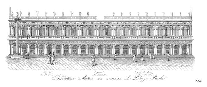 Venezia, Libreria Marciana, incisione 1831