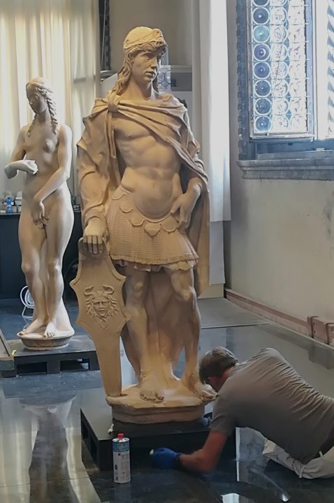Rizzo's statues of Mars and Eve