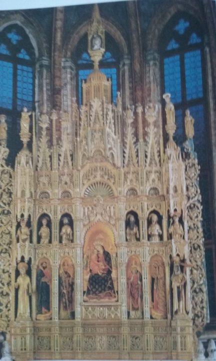 Polyptych v kapli San Tarasio v kostele Sv. Zachariáše
