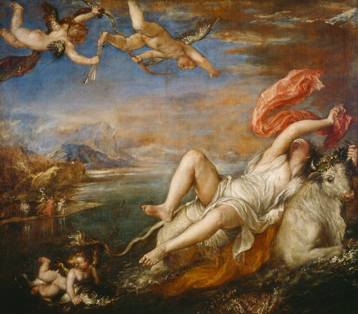 The rape of Europe, Titian, source Wikipedia