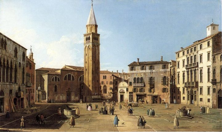 Canaletto, View of the Campo - 1732