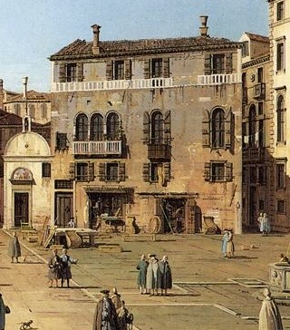 Detail from Canaletto's view