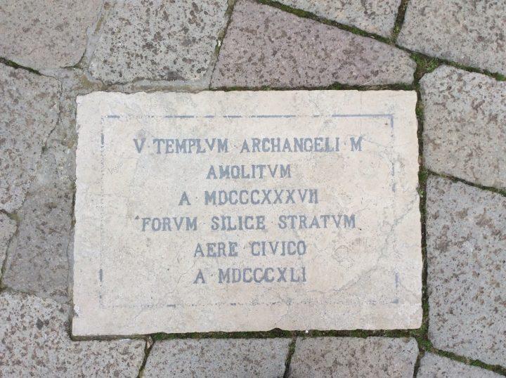 commemorative plaque of the church