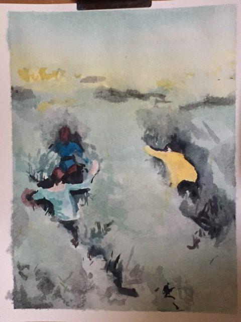 Watercolor classes with Sara Vio - by Sabine Grimal / 2018