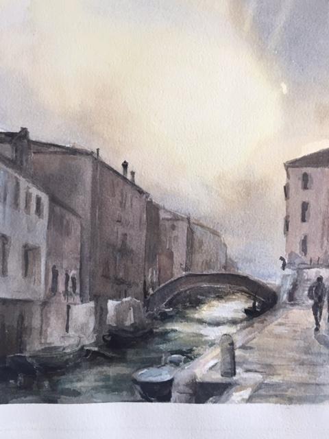 Cannaregio - watercolor by Sabine Grimal 2019