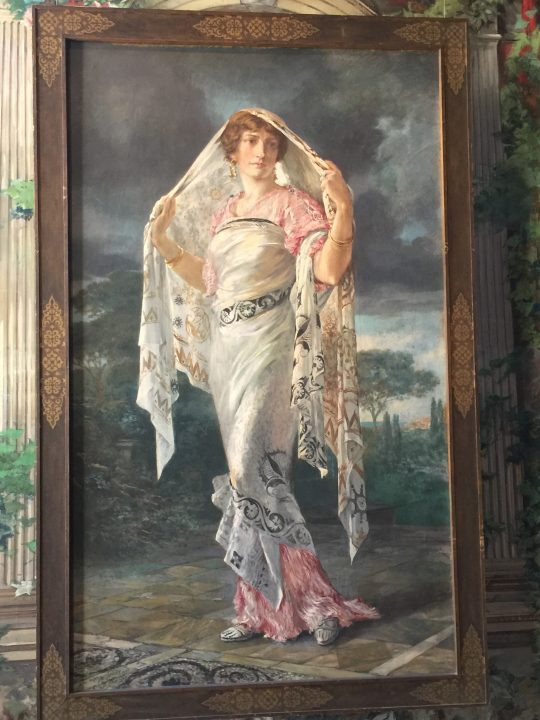 photo 9: Henriette in a Pompeian costume, tempera on board (Palazzo Fortuny House-Museum)