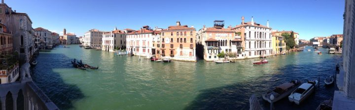 Panoramic view on the Grand Canal