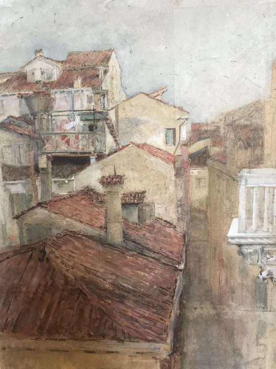 "Mariano Fortuny, ""The roofs of San Beneto"""