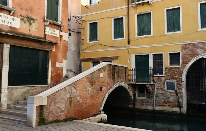 The bridge at the Miracles, Cannaregio, Venice