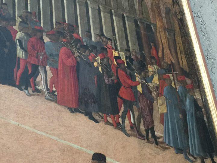 photo 14) Gentile Bellini : voici les trombones de la procession ; détail