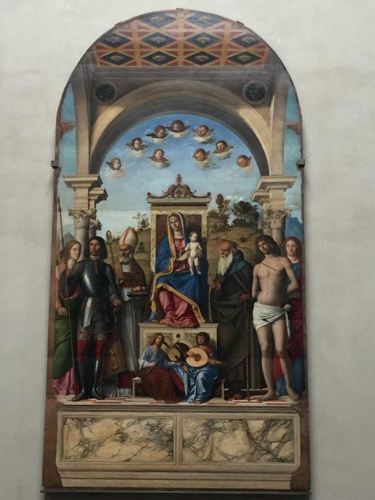 photo 19) Cima da Conegliano : Vierge sur le trône avec l'Enfant et Saints