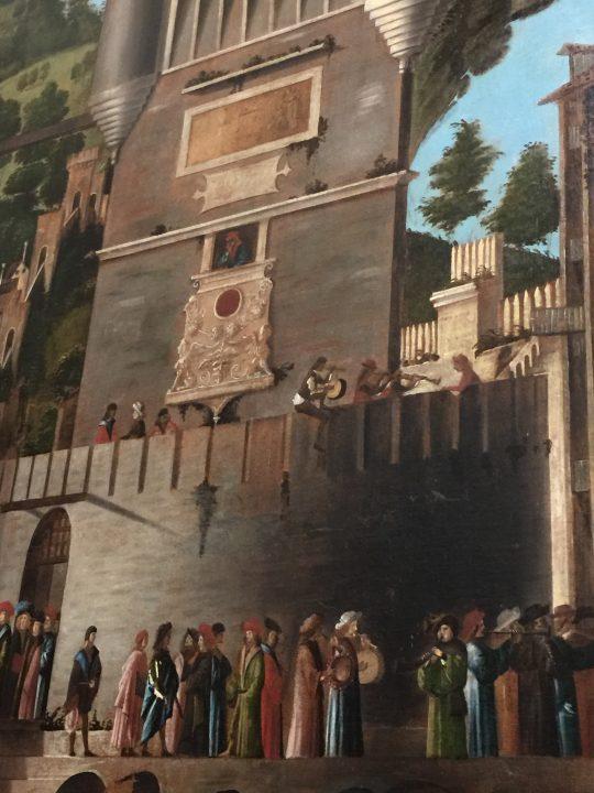 photo 21) Carpaccio : Cycle de Sainte Ursule : Rencontre des fiancés et départ pour le pèlerinage ; détail
