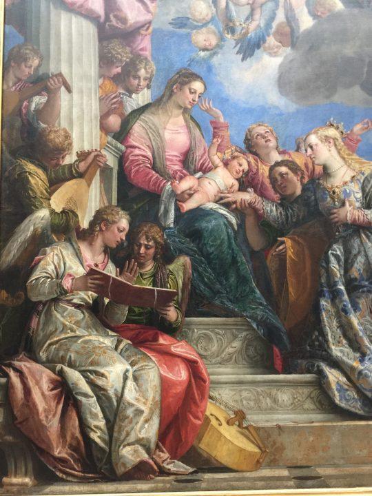 photo 26) Veronese 1575 c. : Le mariage de Sainte Catherine ; détail