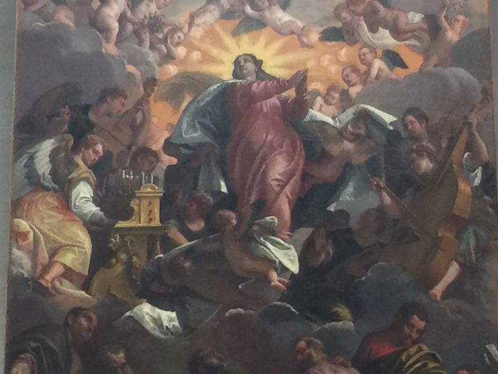 photo 27) Veronese and workshop: Assumption of the Virgin; detail
