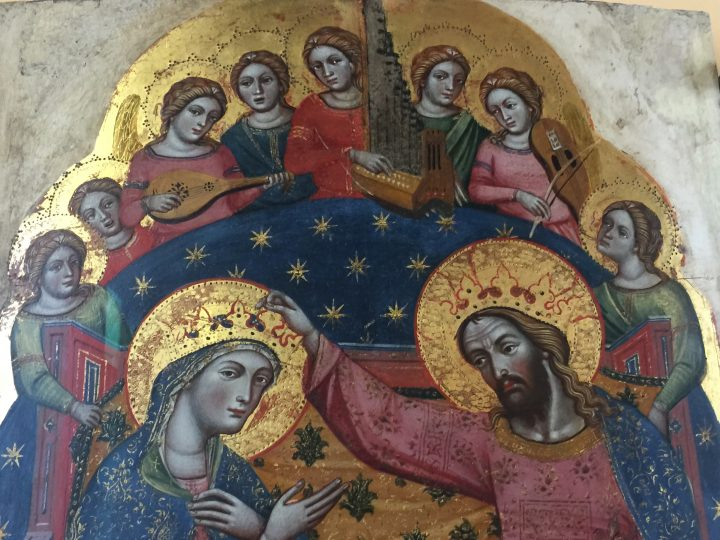 photo 3) Catarino: Crowning of the Virgin and Angels; detail. Catarino lived in Venice between 1362 and 1390