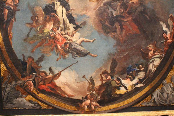 photo 30) Tiepolo : Saint Dominique en gloire, petit tableau préparatoire, 1723 ; détail