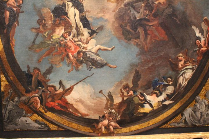 photo 30) Tiepolo: Saint Dominic in glory, oil sketch 1723; detail