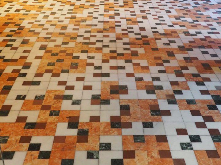 Scarpa's floor in the original entrance