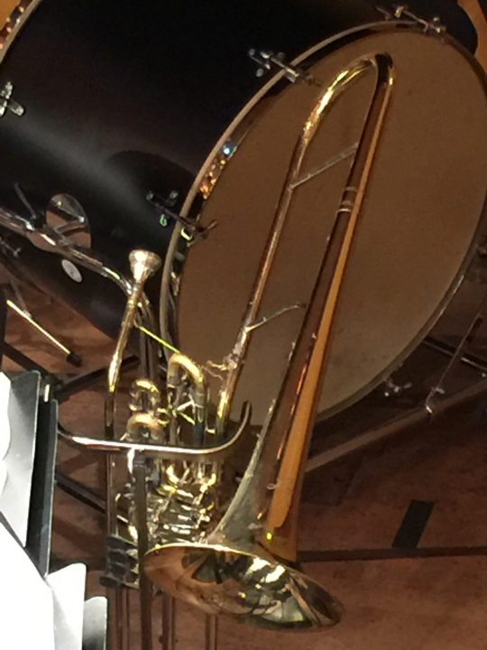 photo 26) this cimbasso was photographed at rest during the interval of 'Aida'