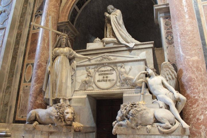 Funerary monument to Carlo Rezzonico, Pope Clemens XIII, Saint Peter Basilica, Rome