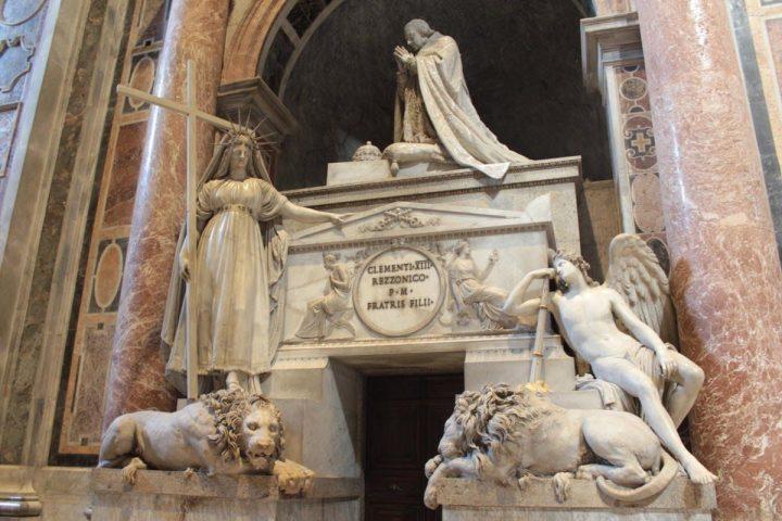 Funerary monument to Carlo Rezzonico, Pope Clemens XIII, Saint Peter Basilica, Rome