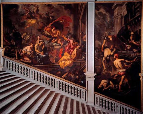 "Alvise Zanchi, ""The plague in 1630"", painting at the Saint Roch Grand School"
