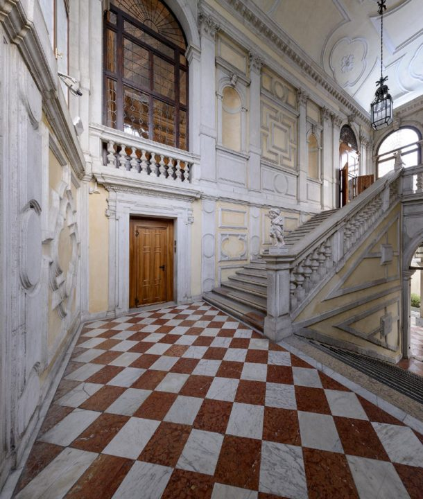 Ceremonial entrance staircase projected and built by Giorgio Massari