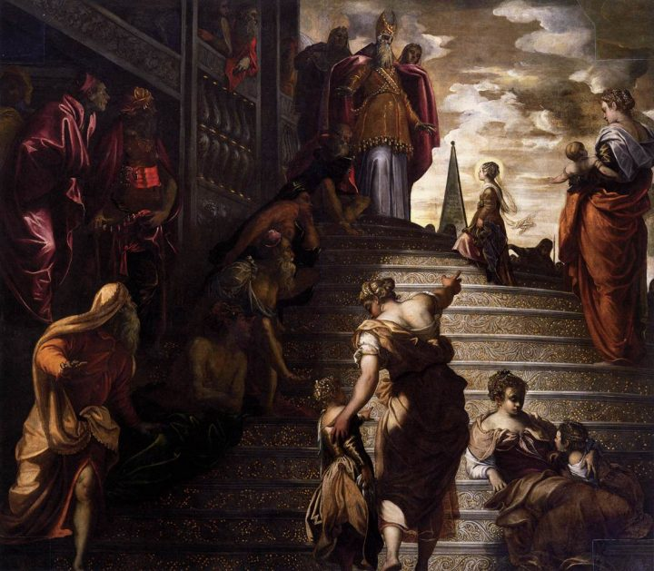 Jacopo Robusti Il Tintoretto, Presentation of Virgin Mary to the temple, 1552-1553