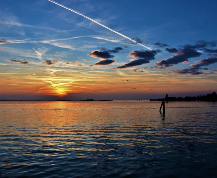 the Lagoon around Burano at sunset
