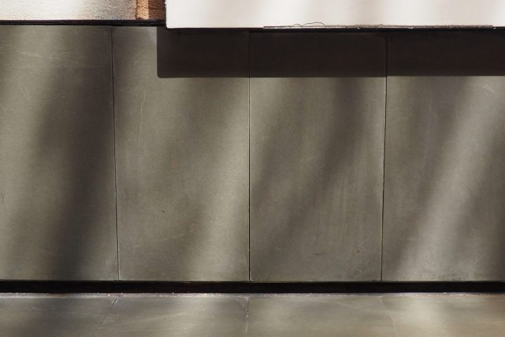 black high skirting board