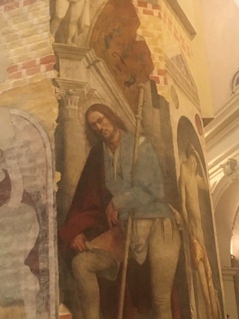 Il Pordenone, a self-portrait of the artist as a fresco representing Saint Roch