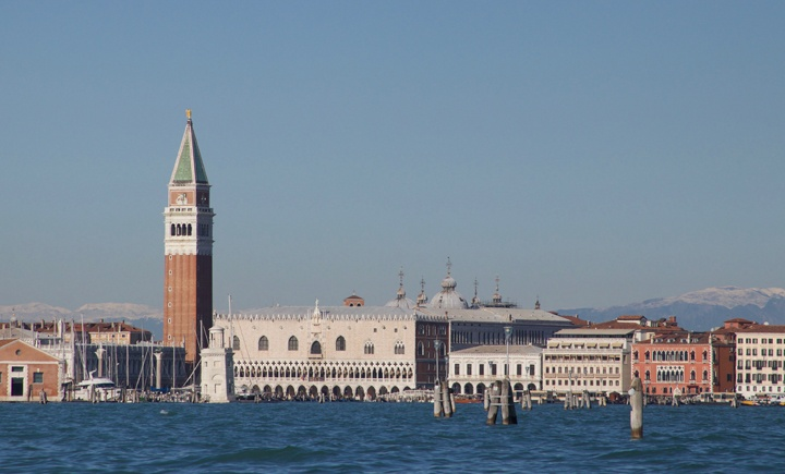 The bells of St Mark's campanile in Venice