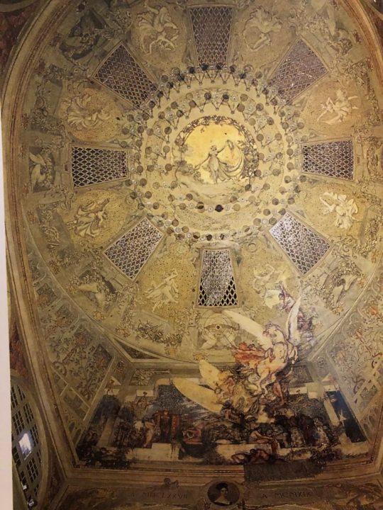 ceiling of the Malibran Theatre