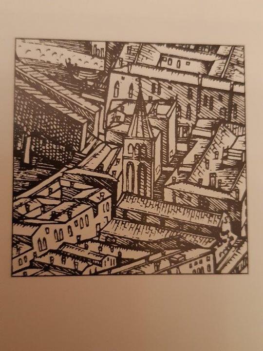 De' Barbari map, detail of San Bortolomeo bell-tower